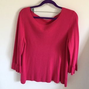 NWOT Pink Sweater with Wrist Details